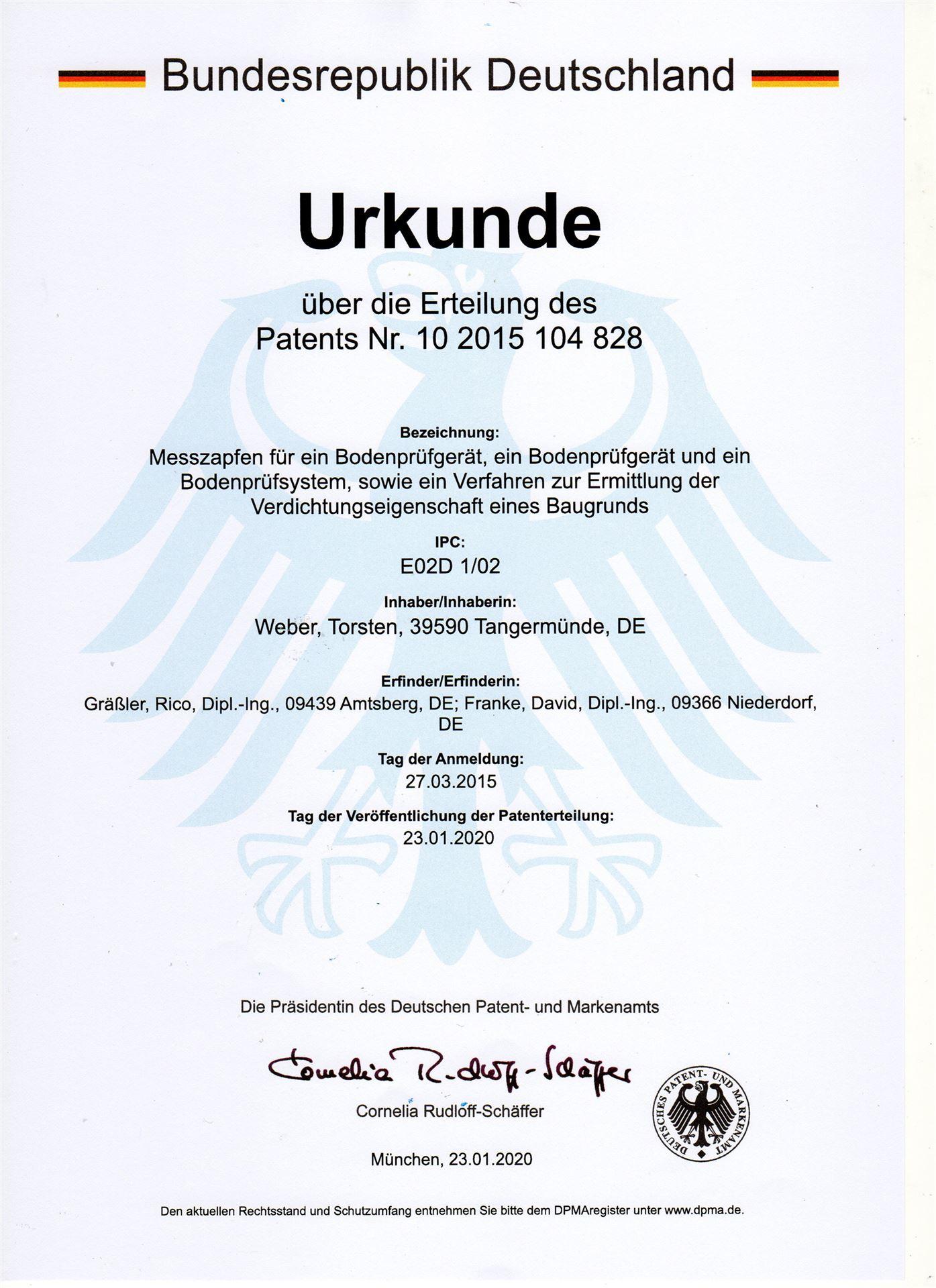 Patent Deutschland
